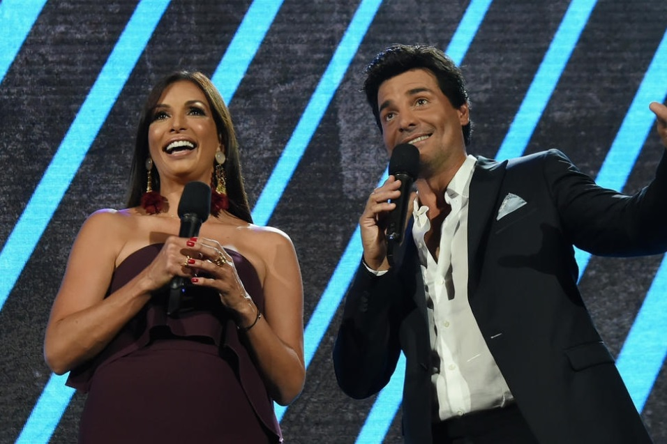 Giselle Blondet y Chayanne.