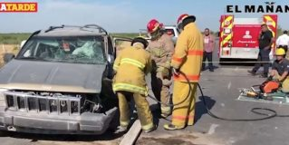 Accidente en viaducto Reynosa.