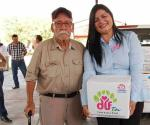 Entrega DIF despensas a las familias vulnerables