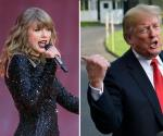 Trump dice no agradarle mucho la música de Taylor Swift