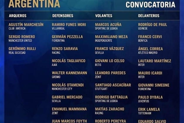 ⚽️ Regresa Marchesín a convocatoria  de Argentina